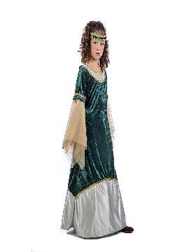 disfraz de dama medieval olivia niña