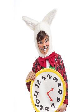disfraz de conejo blanco cuento niño