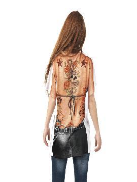 disfraz de camiseta motera para mujer