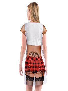 disfraz de camiseta para colegiala mujer