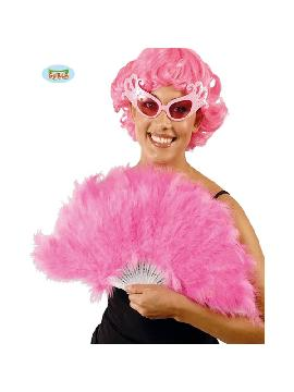 abanico de plumas rosa 16 palas