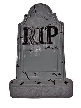 adorno tumba para decorar halloween 55x35 cm