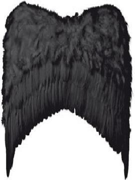 alas con plumas grandes 80x75 cm varios colores