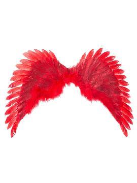 alas de angel rojo 70 x 40 cm