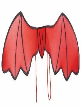 alas rojas de demonio tela 86 x 25 cm