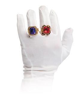 anillo de bisuteria lujo metal acrilico color rojo
