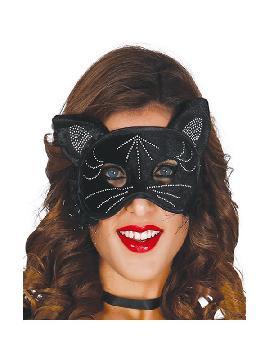 antifaz de gata con orejas negro