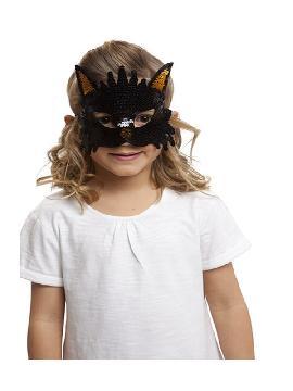 antifaz de gato con lentejuelas
