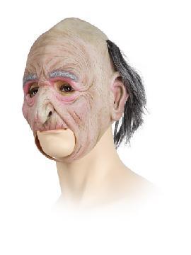 mascara de viejo calvo de latex con pelo