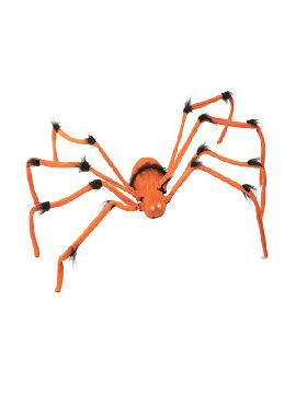 araña naranja con movimiento luz y sonido 103x29 cm