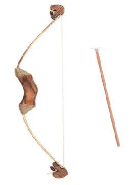 arco de madera con 3 flechas con ventosas 81 cm