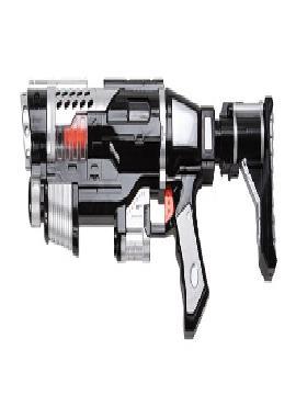 arma con bazoca y metralleta galactica 46 cm