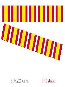 bandera de españa plastico 50 m 20x30 cm