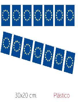bandera region europa plastico 50 m 30x20 cm