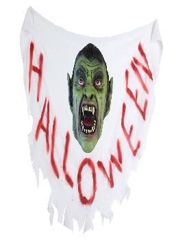 bandera para halloween estampado vampiro 100x55 cm