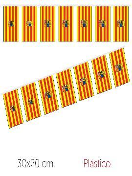 bandera region aragón plastico 50 m 30x20 cm