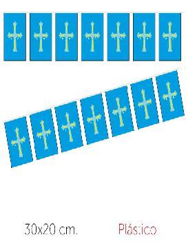 bandera region asturias plastico 50 m 30x20 cm