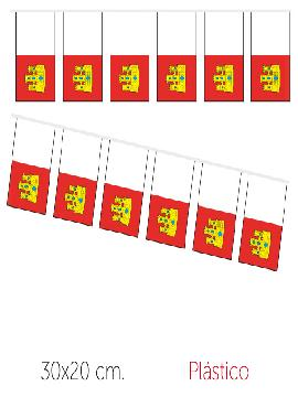 bandera region castilla la mancha plastico 50 m 30x20 cm