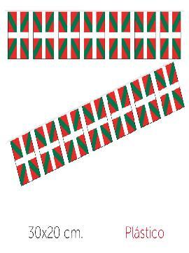 bandera region euskadi plastico 50 m 30x20 cm