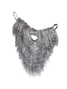 barba corta gris