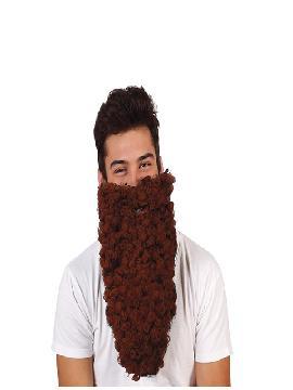 barba larga rizada castaña