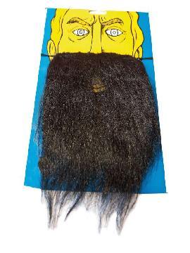 bigote con barba espesa negra