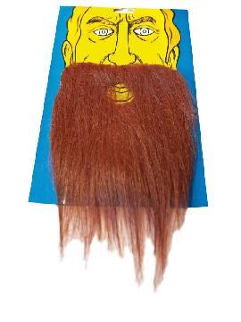 bigote con barba espesa castaña