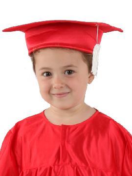 birrete graduado de colores infantil