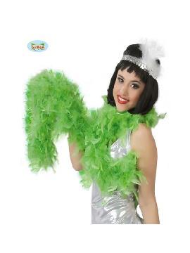 boa de pluma verde 180 cms 40 gramos
