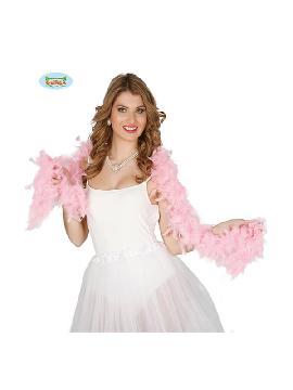 boa de plumas rosa 180 cms 40 gramos