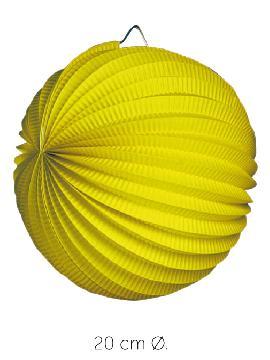 bolsa 25 unidades faroles amarillos 20 cm