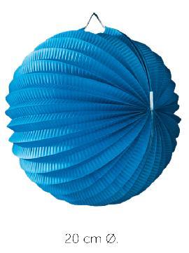 bolsa 25 unidades de faroles azules 20 cm