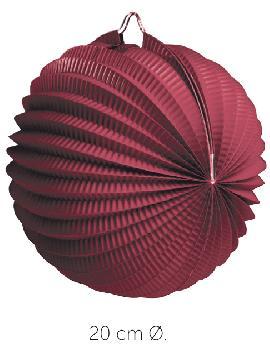 bolsa 25 unidades de faroles rojizos 20 cm
