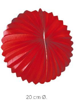 bolsa 25 unidades de faroles rojos 20 cm