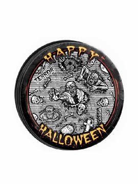 bolsa 8 platos 23 cm halloween zombie