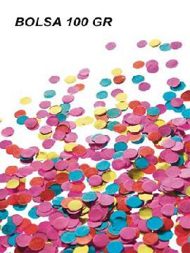 bolsa de confetis de 100 gramos para fiestas. Comprar vuestro cotillón   barato. Ideal para decoraciones de festivales en grupos, colegios o cumpleaños.