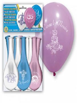 bolsa de 10 globos vivan los novios