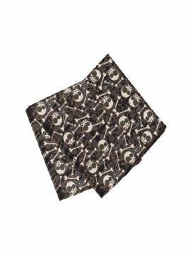 bolsa de 20 servilletas de calaveras y huesos 33x33 cm