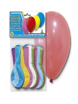 bolsa de 24 globos surtidos