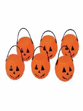 bolsa de 6 calabazas de 7 cms halloween