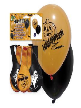 bolsa de 8 globos halloween