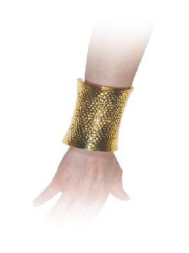 brazalete metalizado color oro de romano
