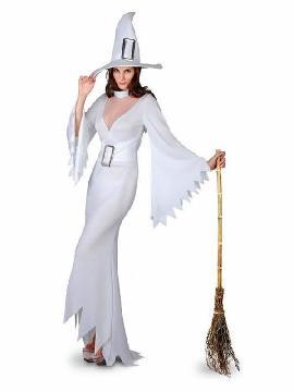 disfraz de bruja blanca halloween para mujer
