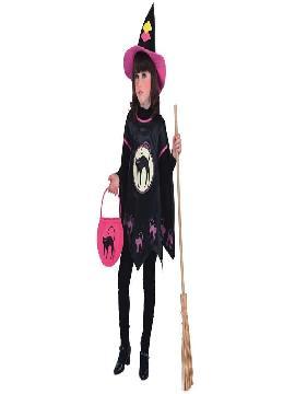 disfraz de bruja halloween para niñas .Este traje es ideal para Halloween o cualquier otra fiesta de disfraces que os imagineis.Este disfraz es ideal para tus fiestas temáticas de disfraces de bruja y miedo para niñas infantiles.