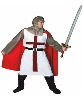disfraz de caballero medieval cruz adulto