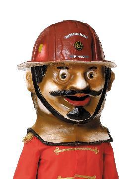 cabezudo bombero grande 72 cm