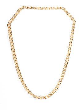 cadena o collar de oro con eslabones de metal