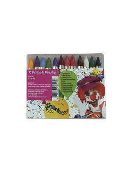 caja 12 barritas maquillaje colores