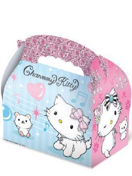 caja de cumpleaños de chammy kitty de 15 x 10 x 8 cm para rellenar. Comprar vuestra cajitas baratas. Ideal para decoraciones de festivales en grupos de cumpleaños, bodas o comuniones.