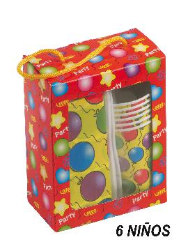 caja picnic para 6 niños de cumpleaños